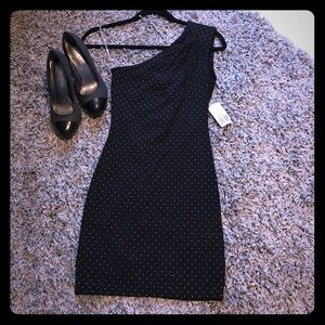 Forever 21 NWT bodycon black mini dress studs